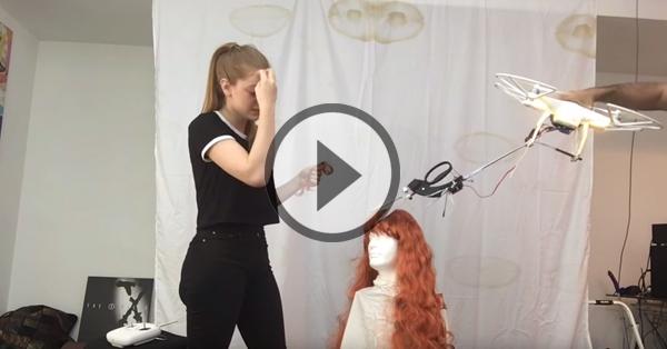 Elle invente un drone qui coupe les cheveux... Mais tout ne se passe pas comme prévu !