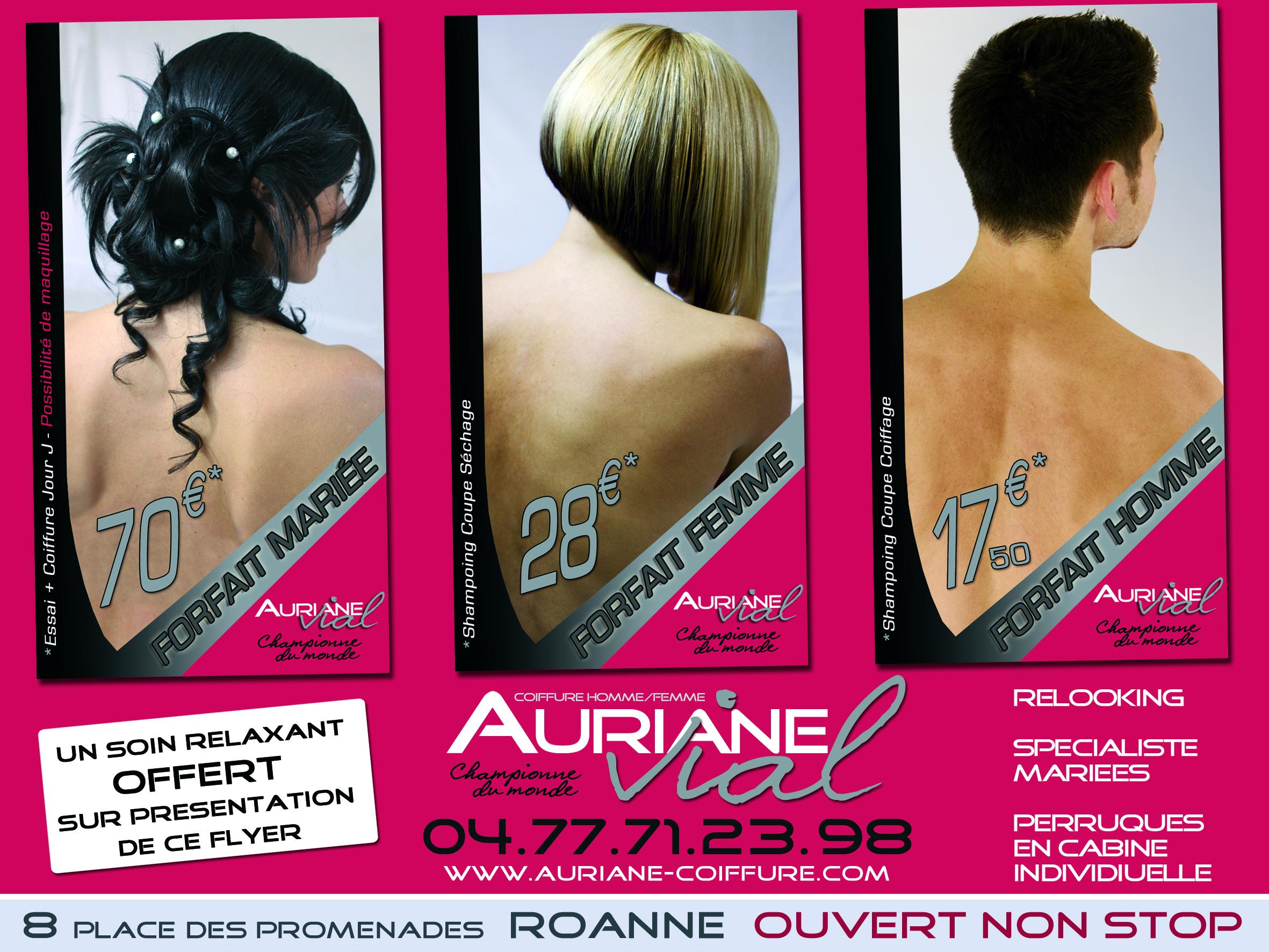 Vial auriane roanne avis tarifs horaires t l phone for Salon coiffure roanne