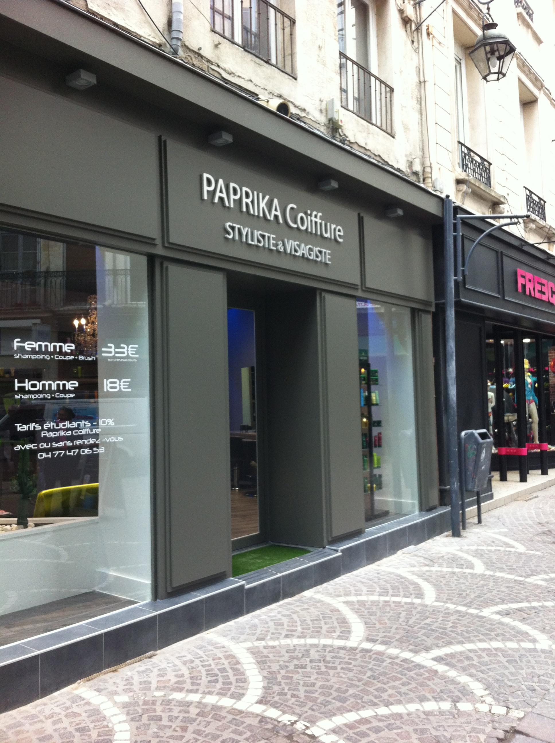 Paprika saint etienne avis tarifs horaires t l phone for Chip salon de coiffure