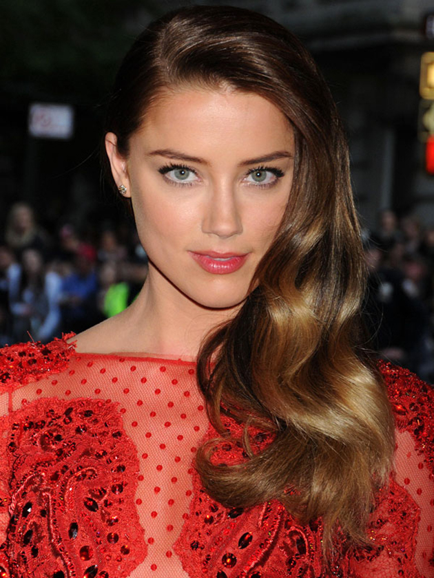 One Shoulder Amber Heard