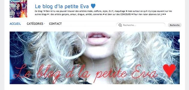 Interview d'Eva du blog Le blog d'la petite Eva