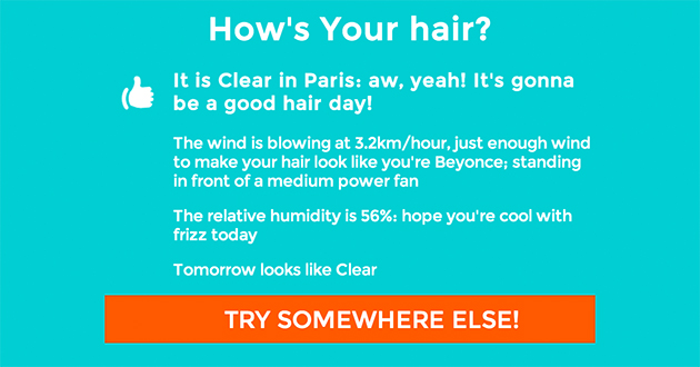 Application How's your hair cheveux