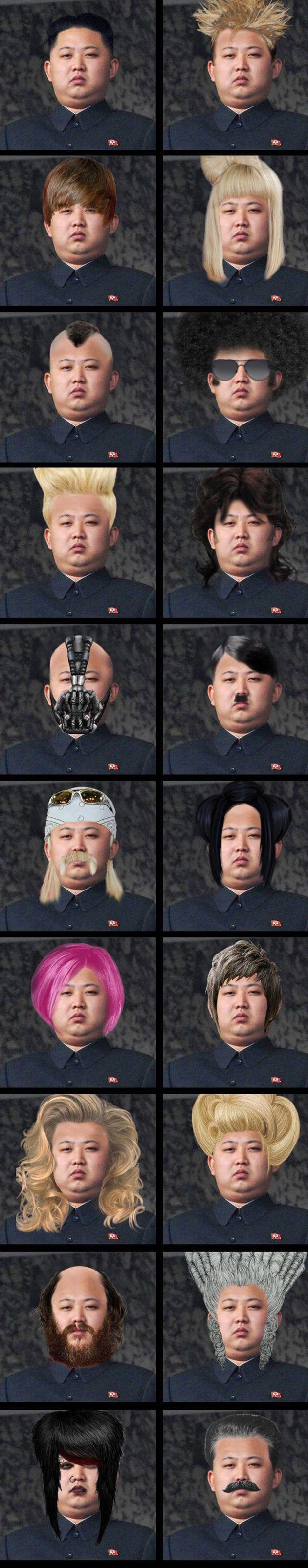 Kim Jong Un coiffures célèbres