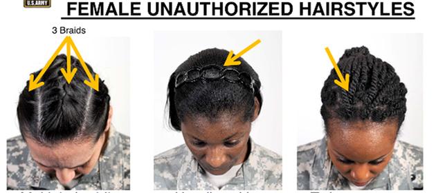 Coupe de cheveux afro armée américaine