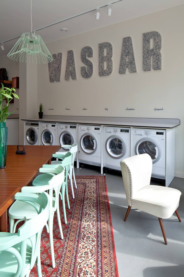 Wasbar salon coiffure laverie