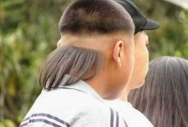 Coupe cheveux ridicule