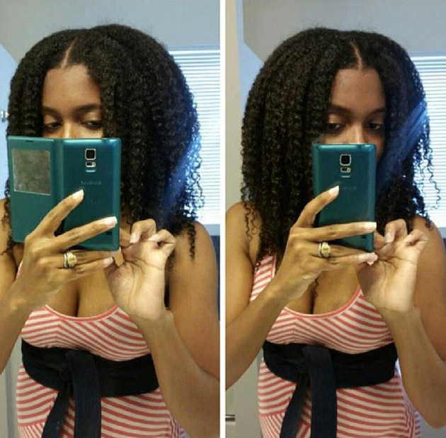 Coiffure afro cheveux longs