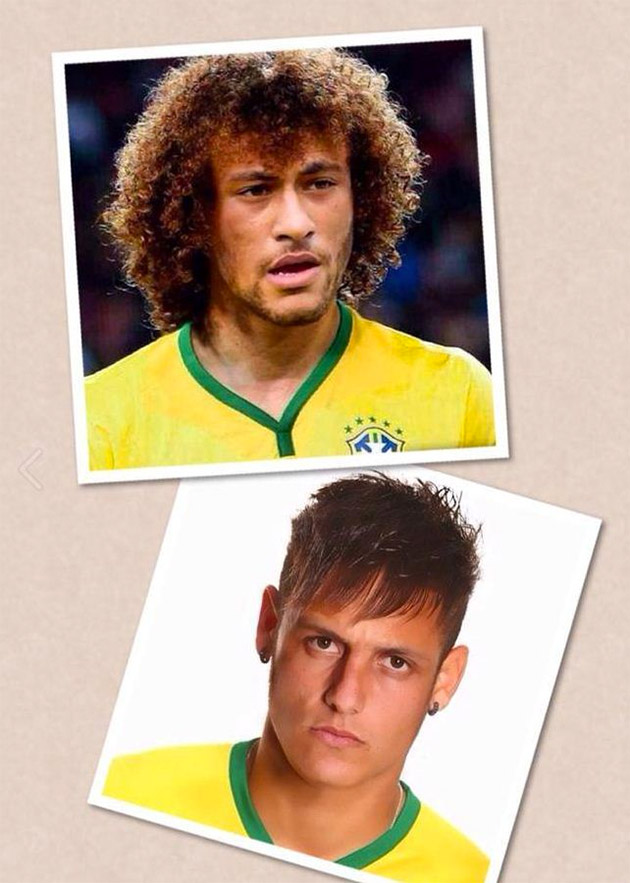 Neymar David Luiz coiffures
