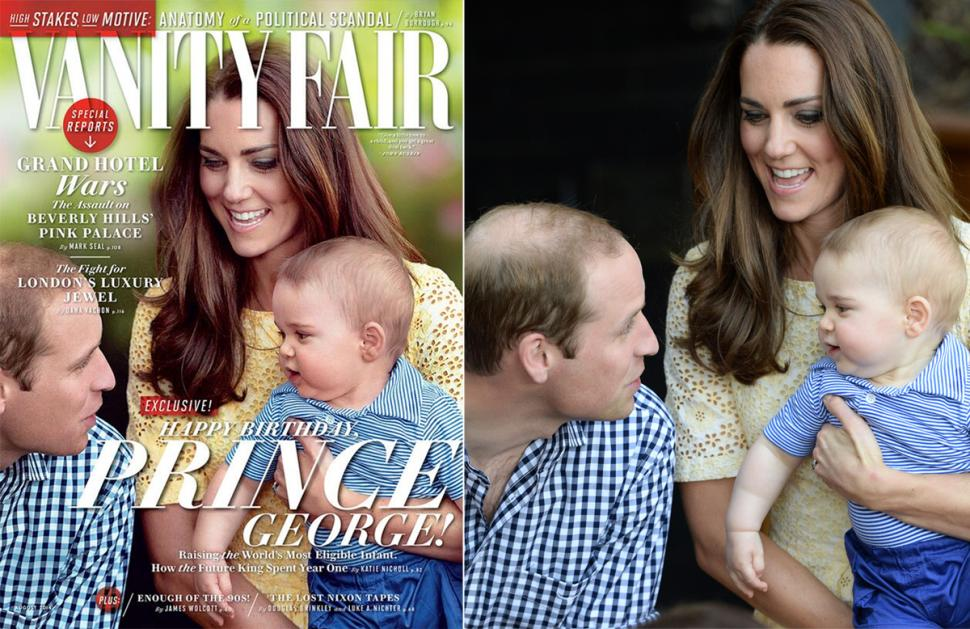 Photoshop Prince William cheveux vanity fair