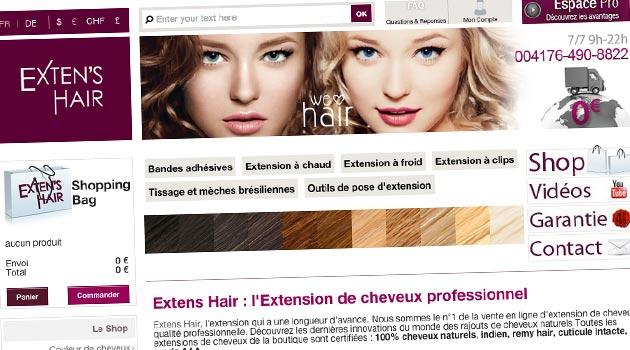 extens hair l extension de cheveux qui a une longueur d avance infos coiffure. Black Bedroom Furniture Sets. Home Design Ideas