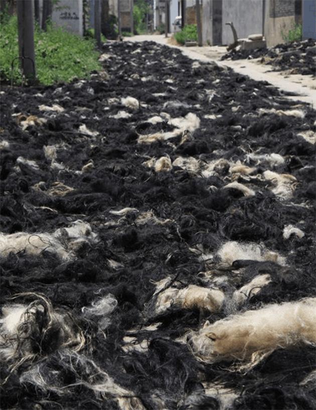 Extensions cheveux chinoises naturelles poils chèvres