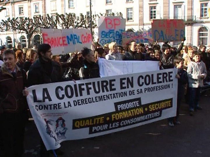 Manifestation coiffeurs