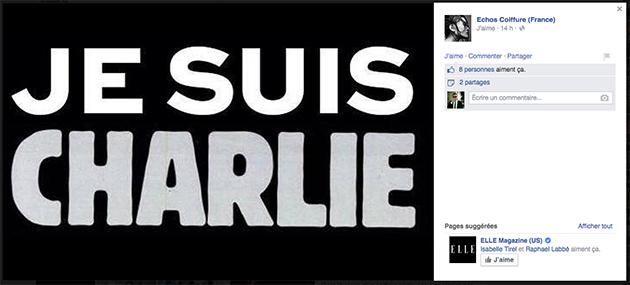 Hommage coiffure Charlie Hebdo
