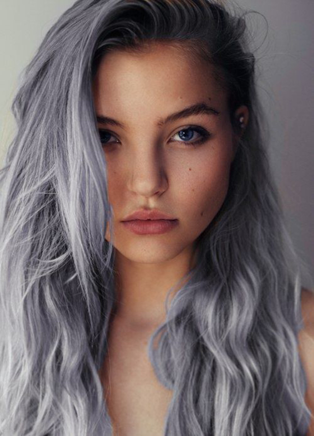 Coloration cheveux gris mode