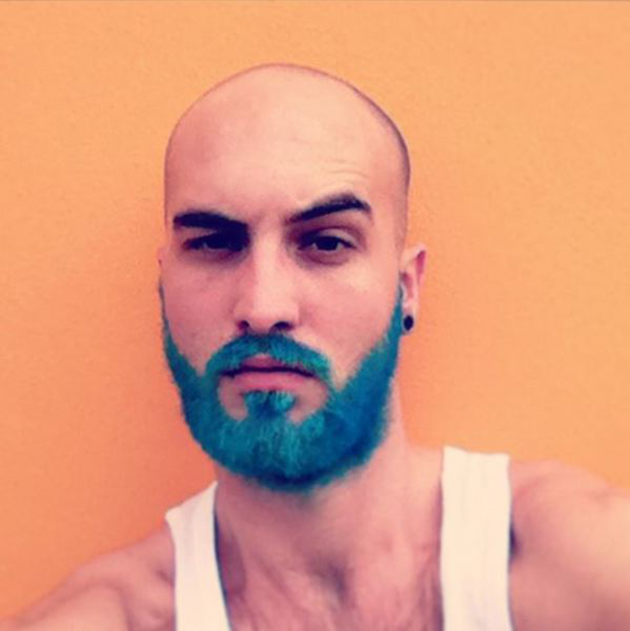 coloration barbe rainbow - Coloration Barbe