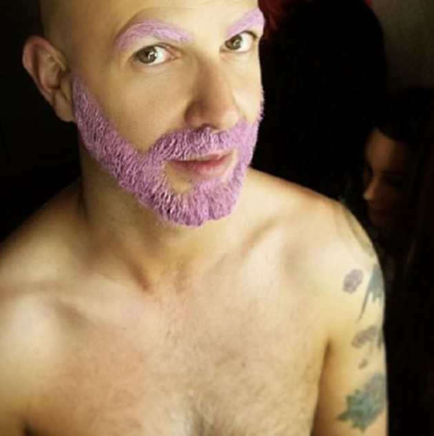Coloration rainbow barbe