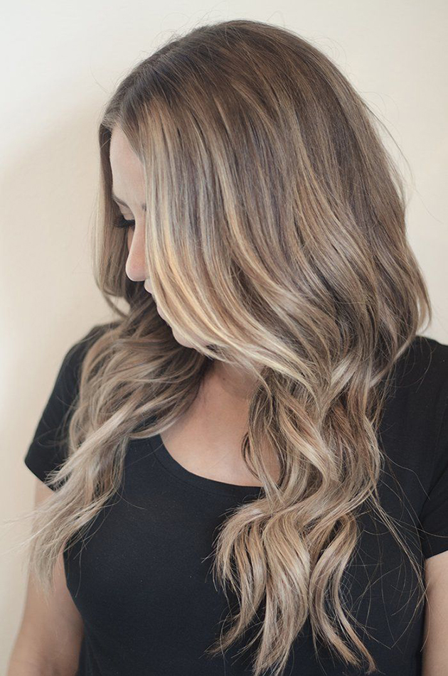 Exceptional balayage blond et chatain 4 balayage cheveux homeezy - Les differents blonds ...