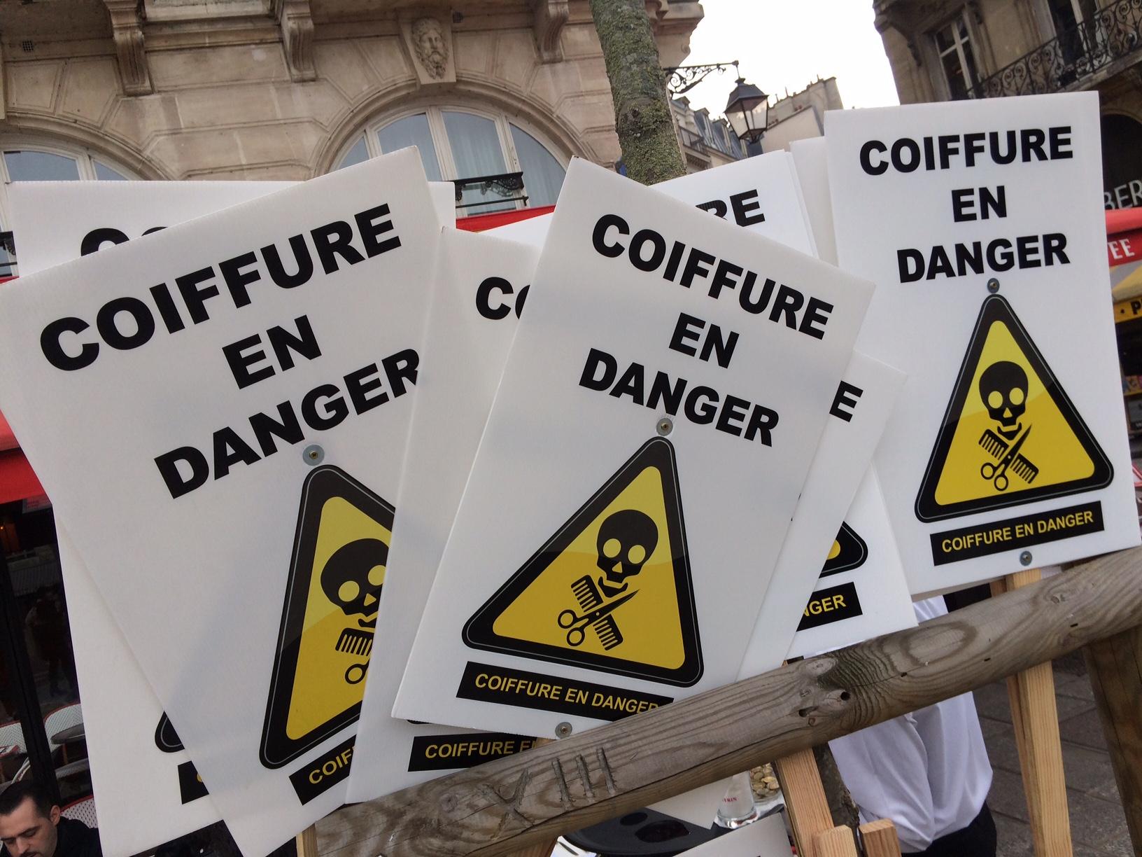 Manifestation Coiffure en Danger