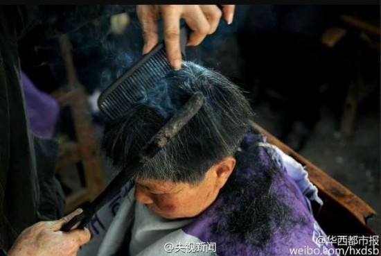 Coiffure pince chaude