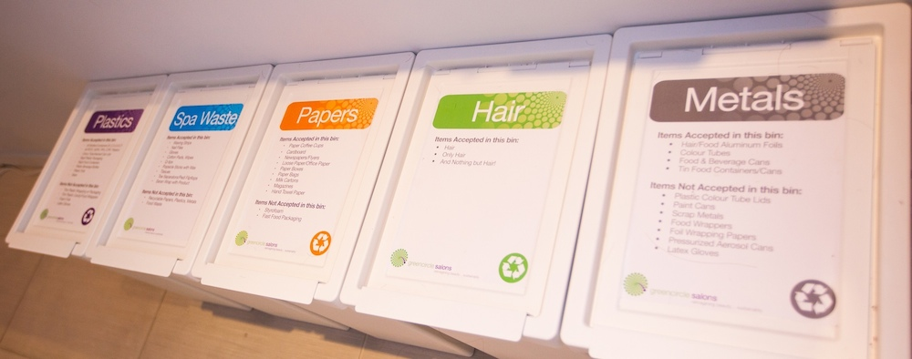 Green circle salons - recyclage produits coiffur
