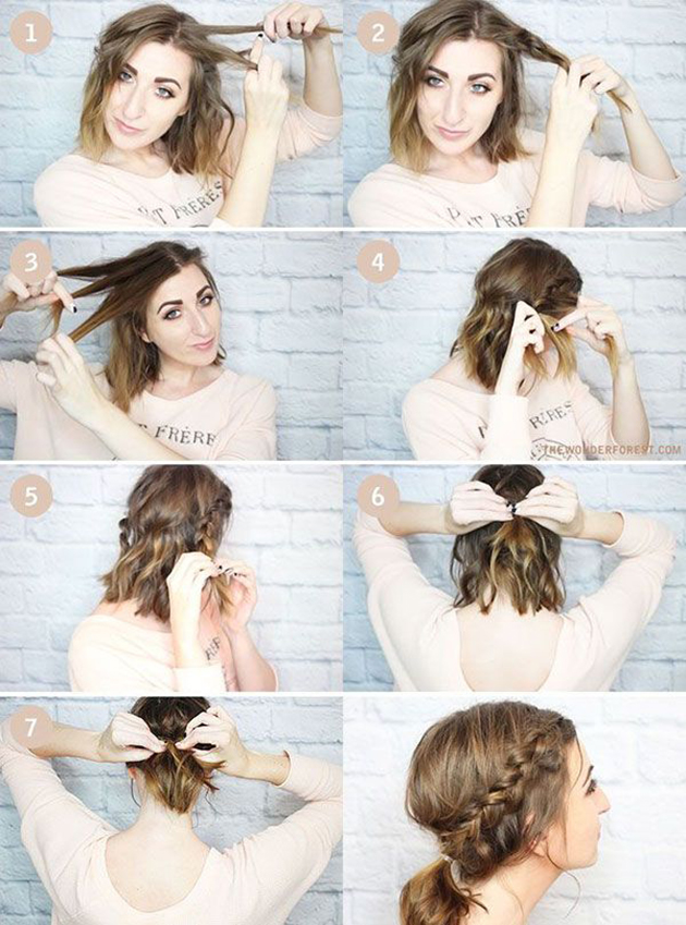Voici les 10 meilleurs tutoriels coiffure pour cheveux mi-longs de Pinterest