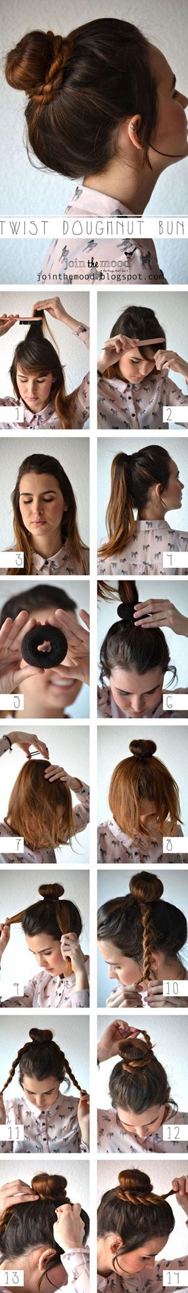Tutoriel coiffure pinterest