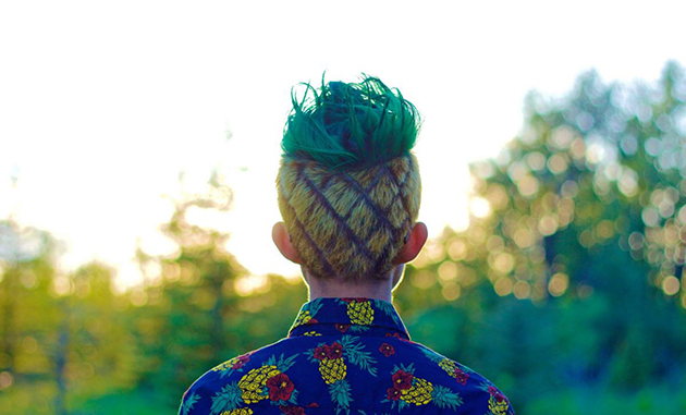 Coiffure ananas