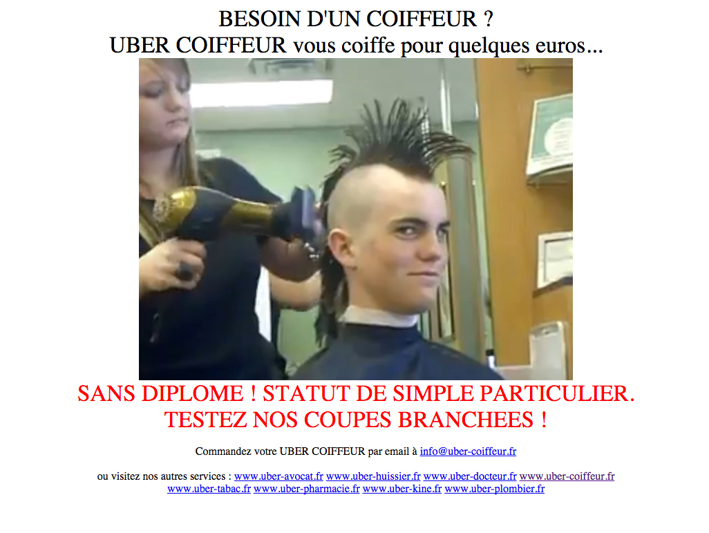 Uber coiffeur