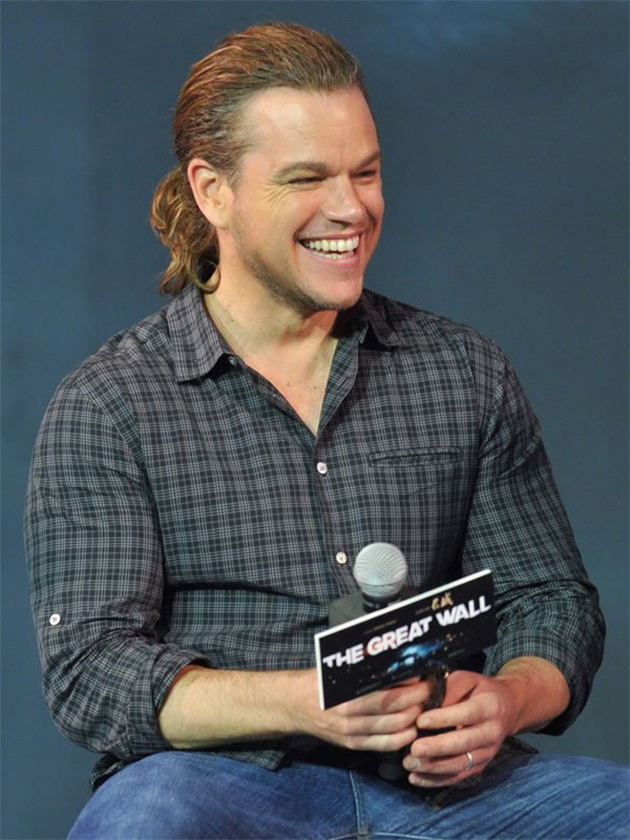 Matt Damon cheveux longs
