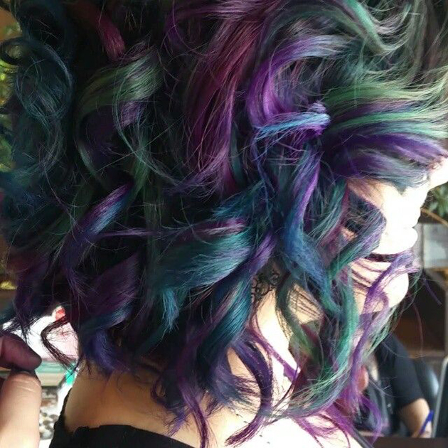 Neon Highlights For Brown Hair Hairs Picture Gallery