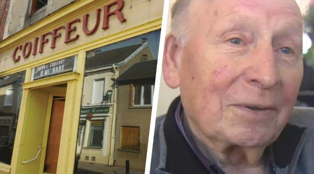 Le plus vieux coiffeur de france 90 ans voit son salon - Nombre de salon de coiffure en france ...
