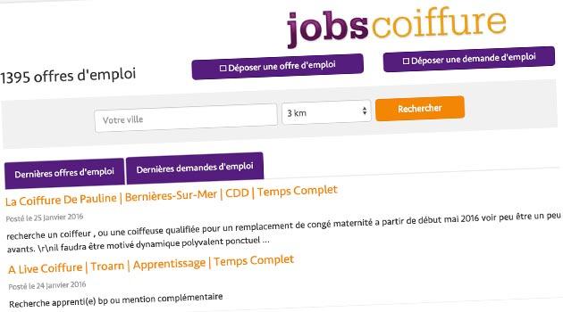 JobsCoiffure.fr nouvelle version