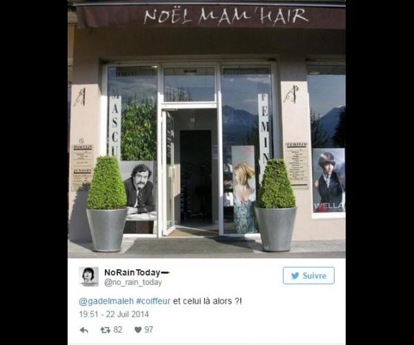 10 salons de coiffure qui auraient vraiment du choisir un - Nom salon de coiffure ...