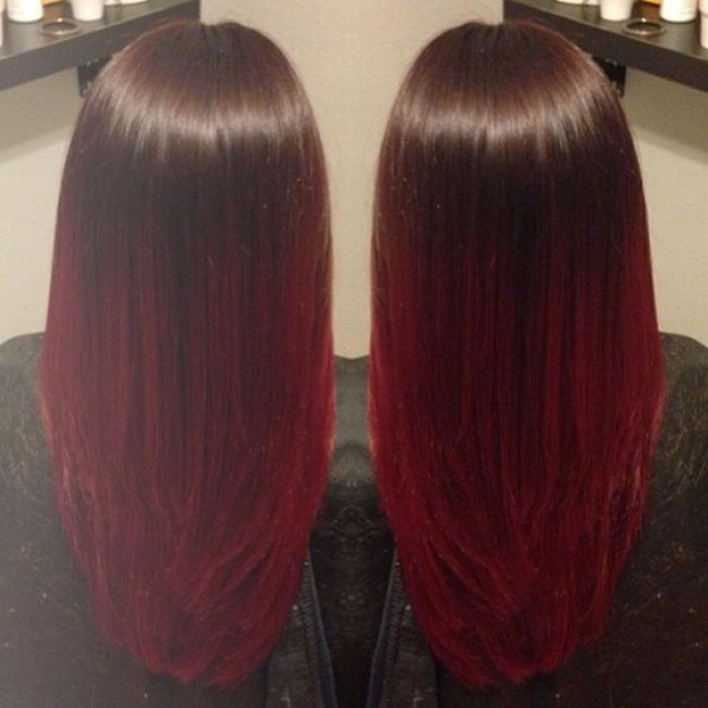 Top Ombre hair brune rouge – Trendy hairstyles in the USA UJ38