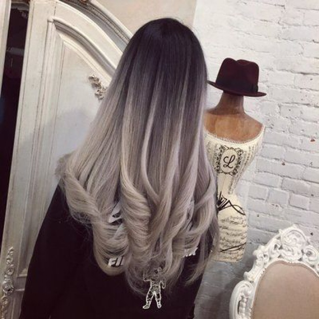 black and grey hair styles ombr 233 hair sur base brune la couleur qui cartonne en 7687 | 1455542830 6 orig