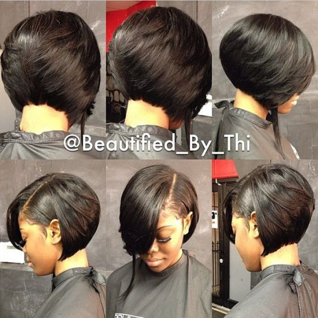 bob hair styles for black women carr 233 avec frange simple sur le c 244 t 233 au milieu que 2869 | 1455554502 20 orig